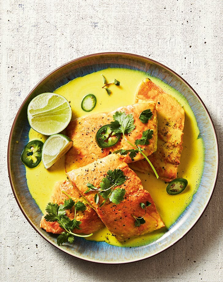 summer dump dinners instant pot coconut salmon with fresh herbs and lime recipe