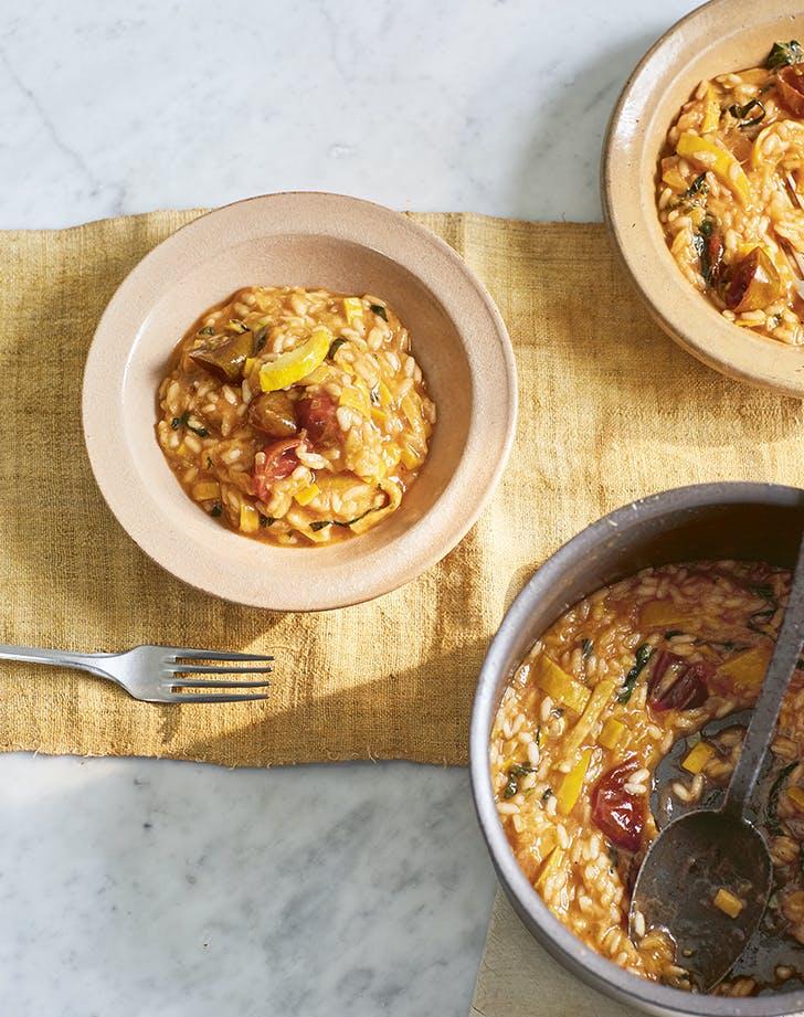 Tomato and Yellow Zucchini Risotto