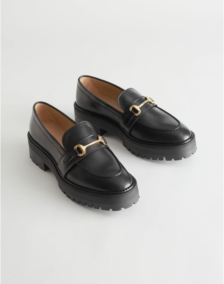 Dark Academia Tik Tok Trend Buckled Chunky Leather Loafers