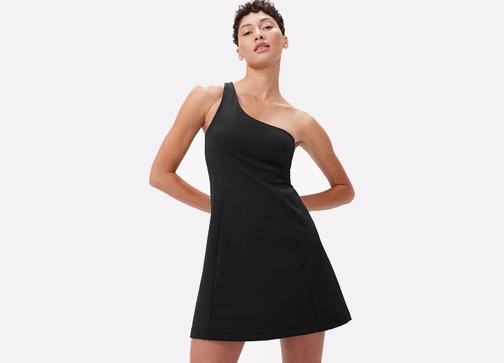 Um, Outdoor Voices Just Dropped a One-Shoulder Exercise Dress & We Love It More Than The Original