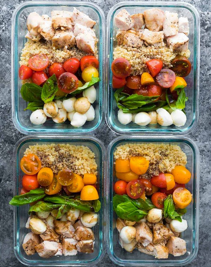 bento box lunch ideas caprese chicken salad meal prep bowls recipe