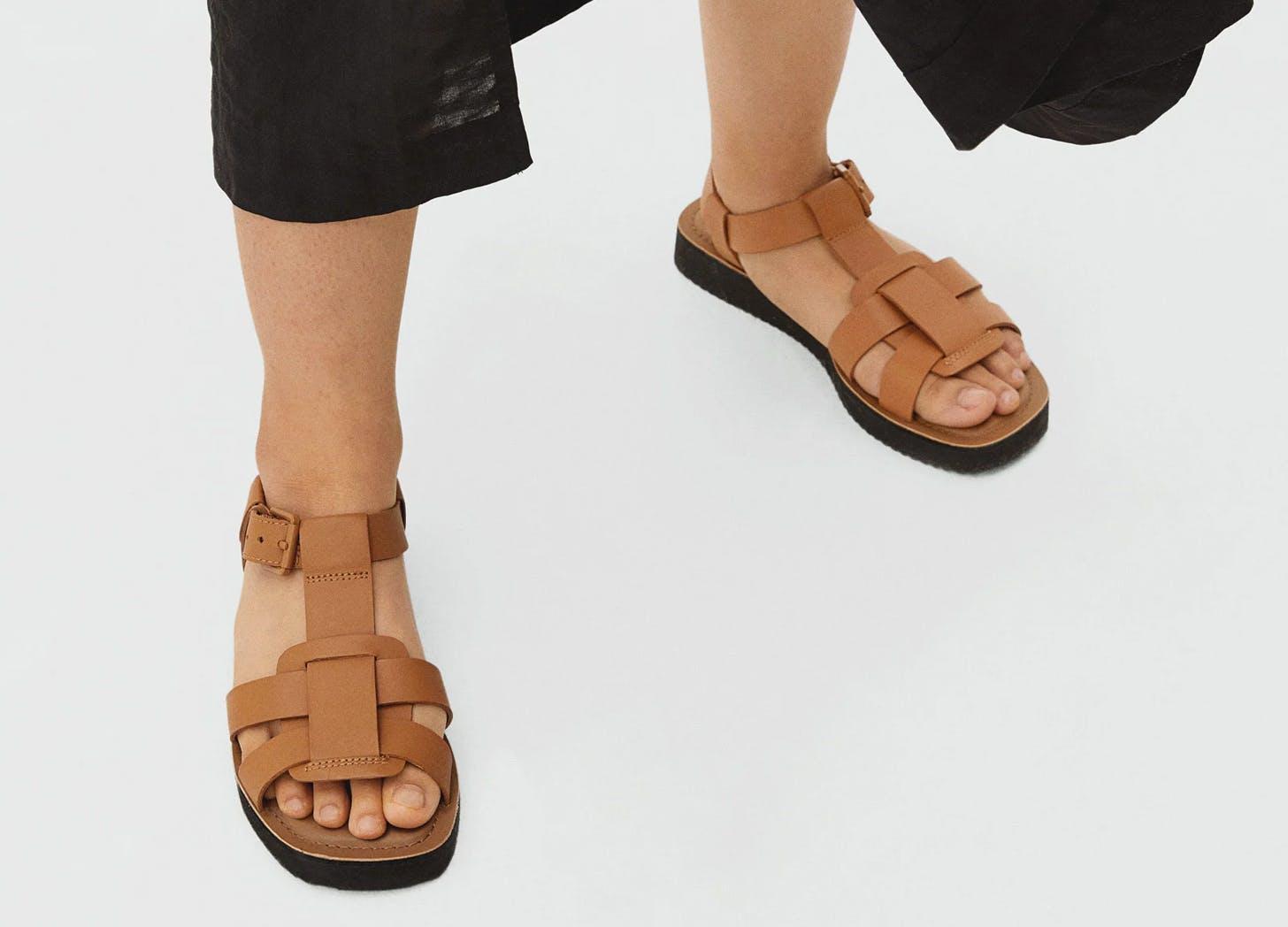 everlane fisherman sandals
