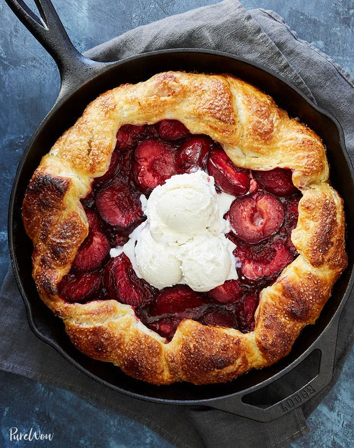 plum recipes puff pastry thyme galette recipe