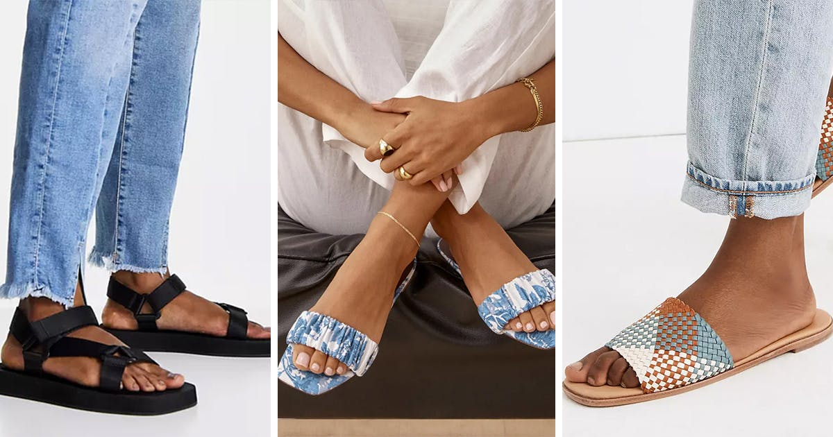 20 Pairs of Trendy Square Toe Sandals to Stock Up On for Summer