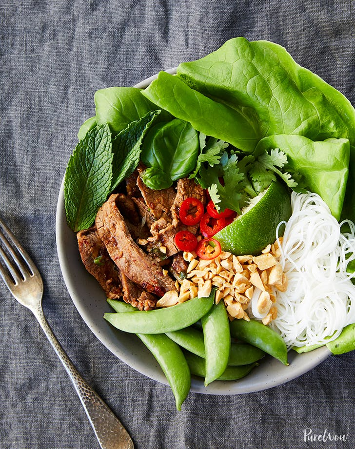 Stir-Fried Beef Bowls with Rice Noodles