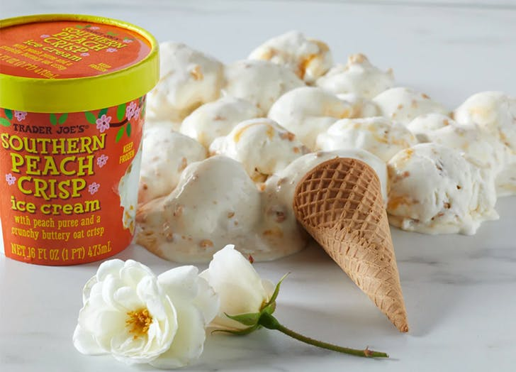 trader joe s ice cream southern peach crisp