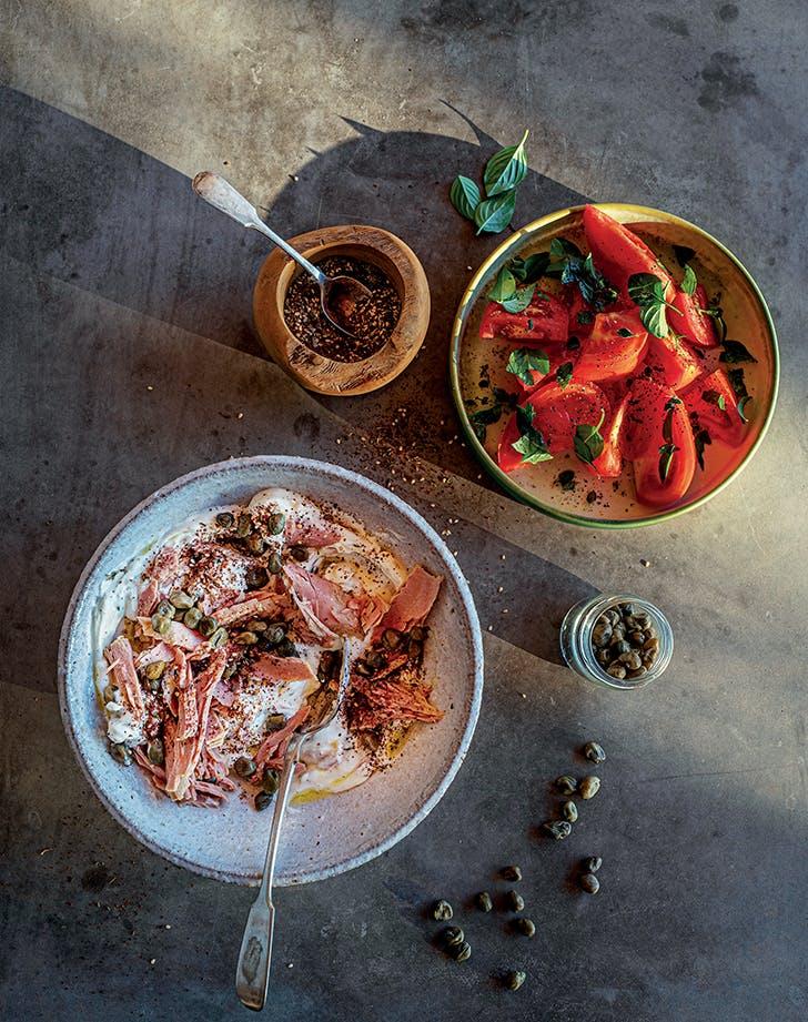 Tuna Salad with Yogurt, Capers and Za'atar