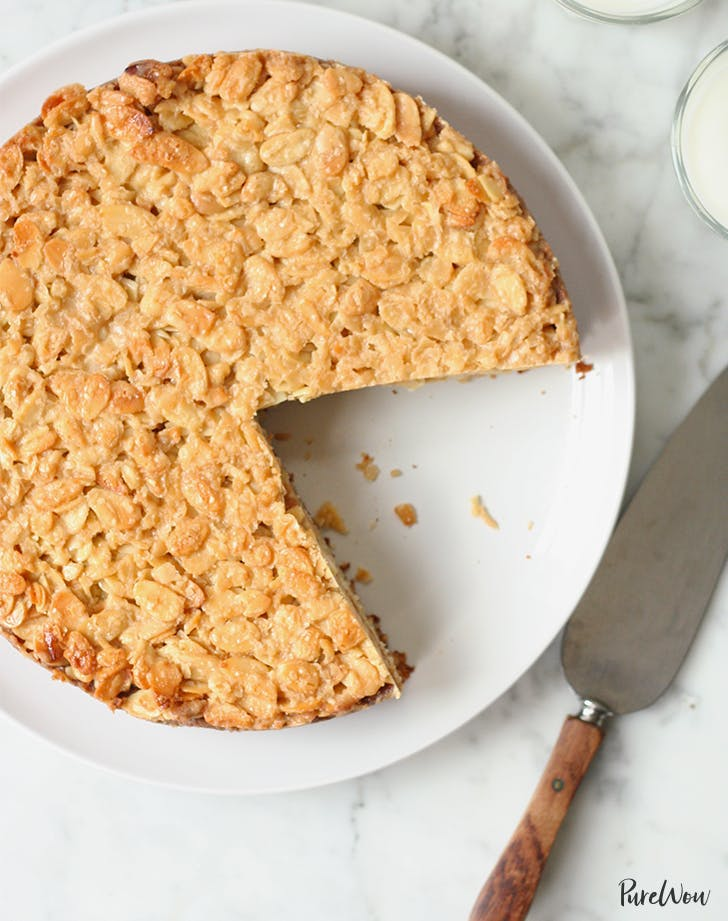 almond desserts Caramel Almond Cake Recipe