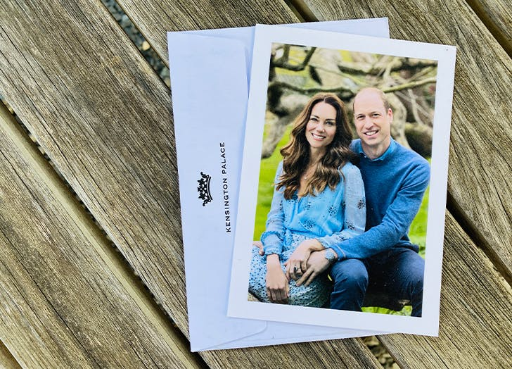 kate and william anniversary card
