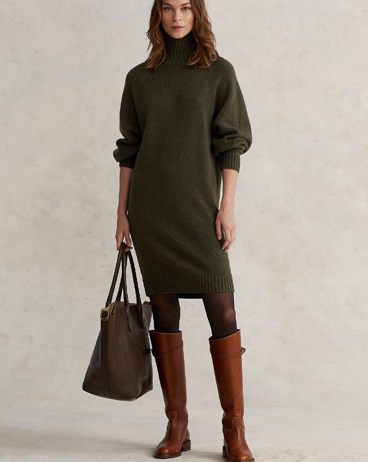 polo ralph lauren fall sweater dress