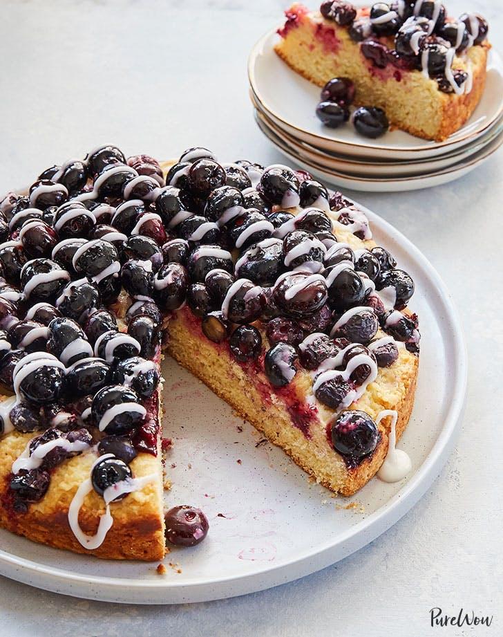 types of cake glazed blueberry cake recipe