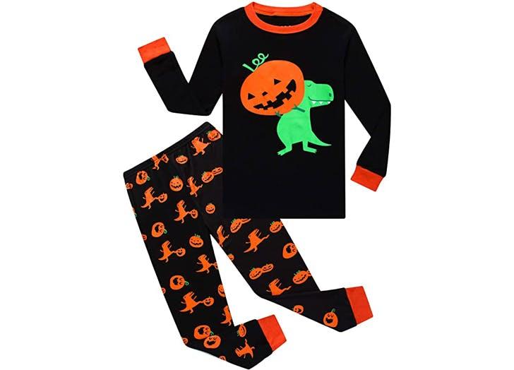 Halloween Pajamas 1. Family Feeling Pumpkin Dinosaur
