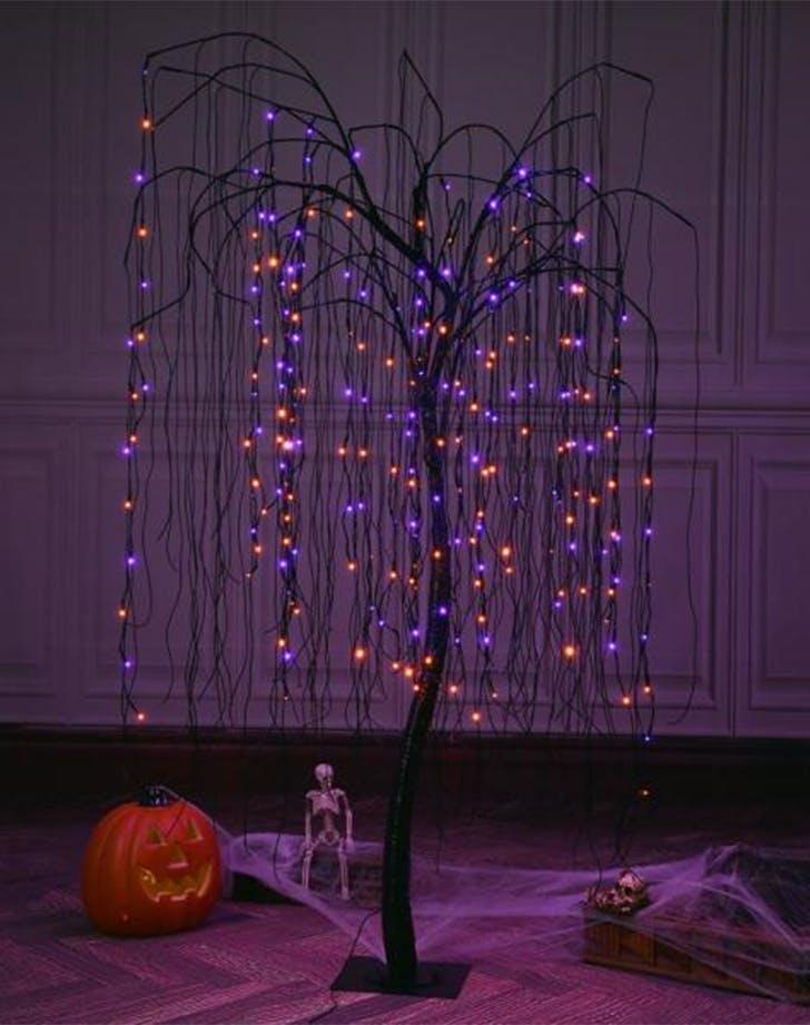 Unique Halloween Decorations LED Light Tree