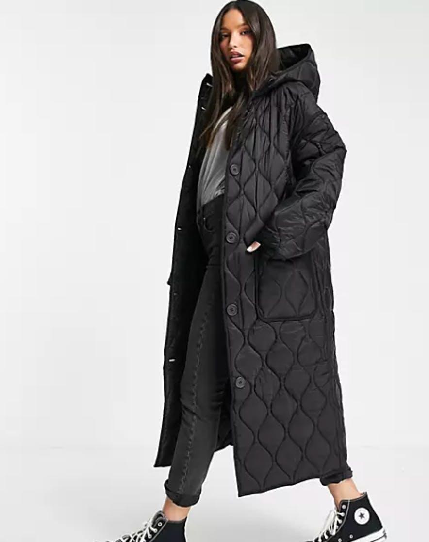 asos tall womens puffer coat