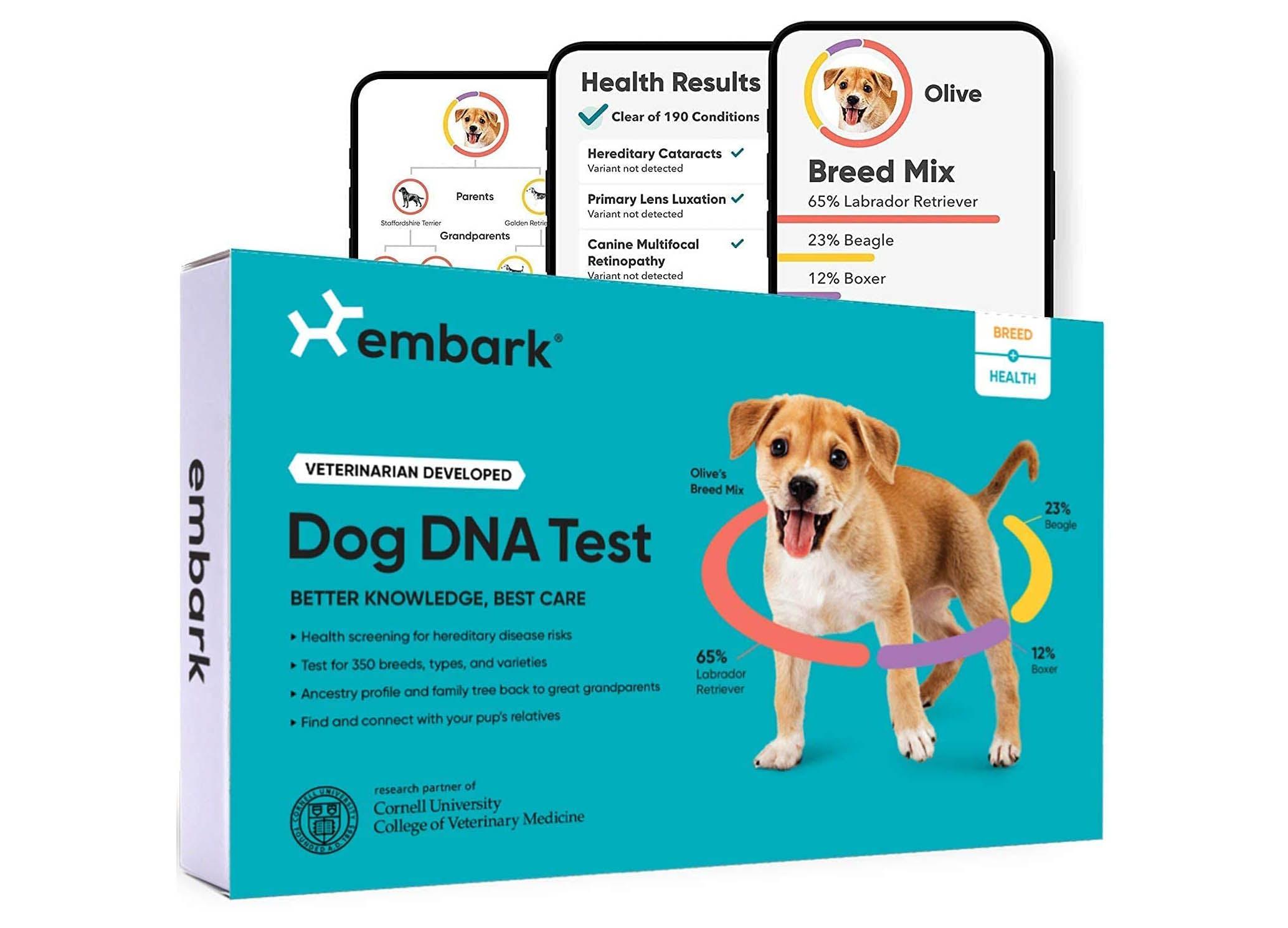 best dog dna test embark package