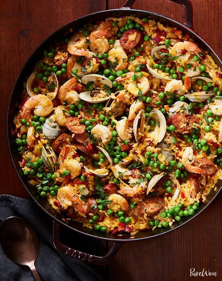 chorizo recipe ideas skillet paella recipe