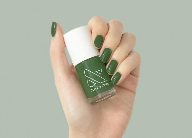 fall 2021 nail color trend Olive   June Nail Polish in  Geometry