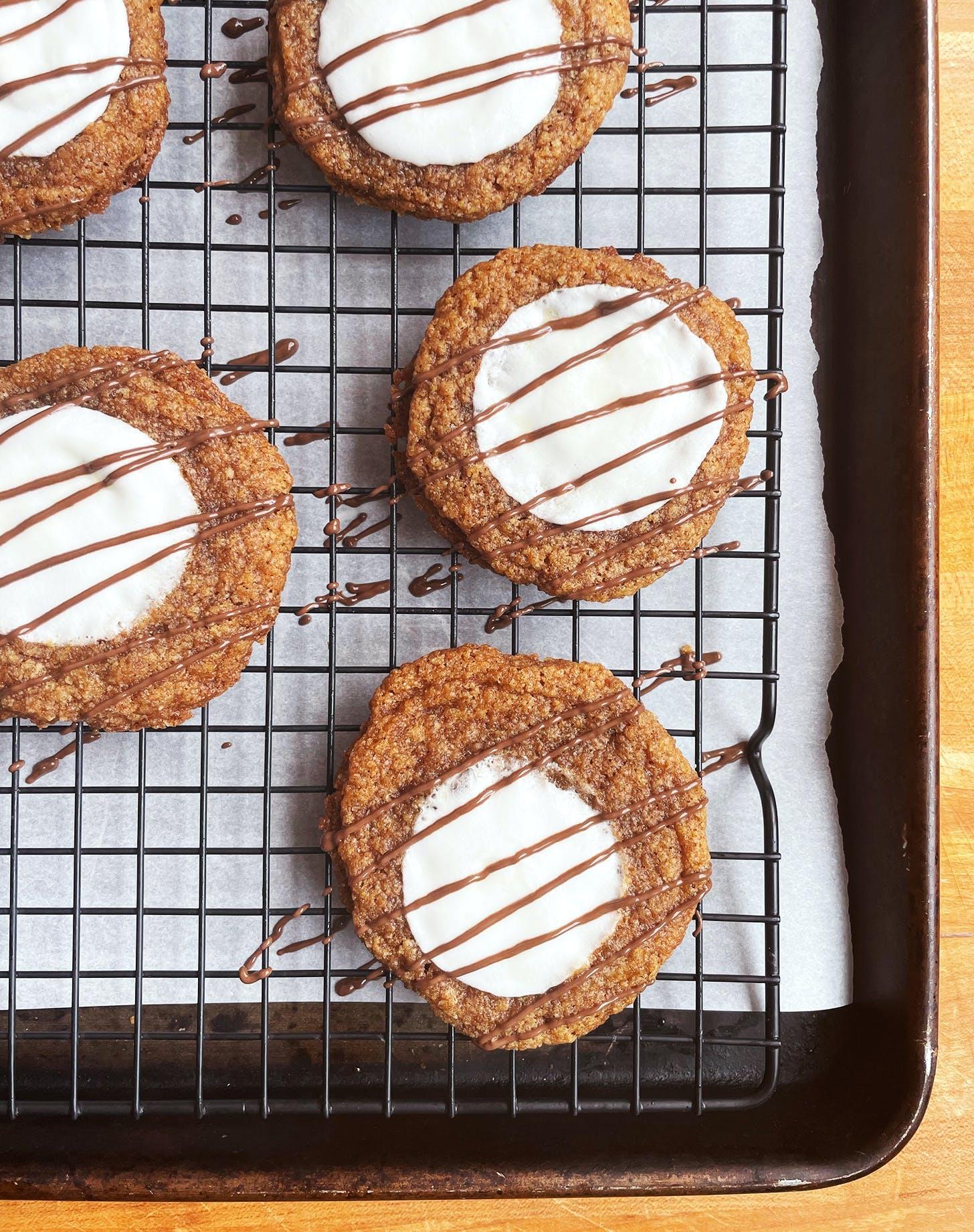 halloween dessert ideas smores cookies recipe