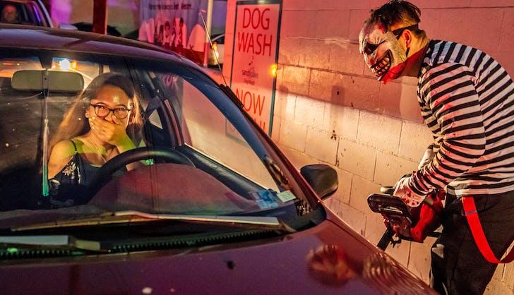 halloween in los angeles car wash