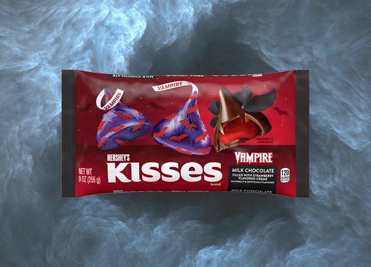new halloween candy 2021 Hershey s Kisses Vampire Chocolates