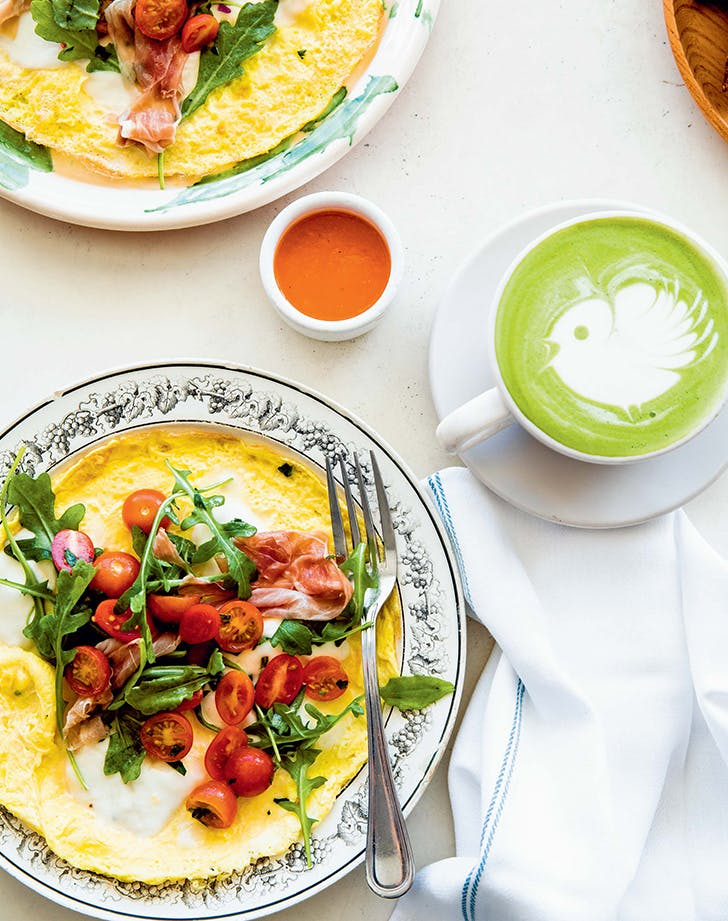 Open-Face Salad Omelet