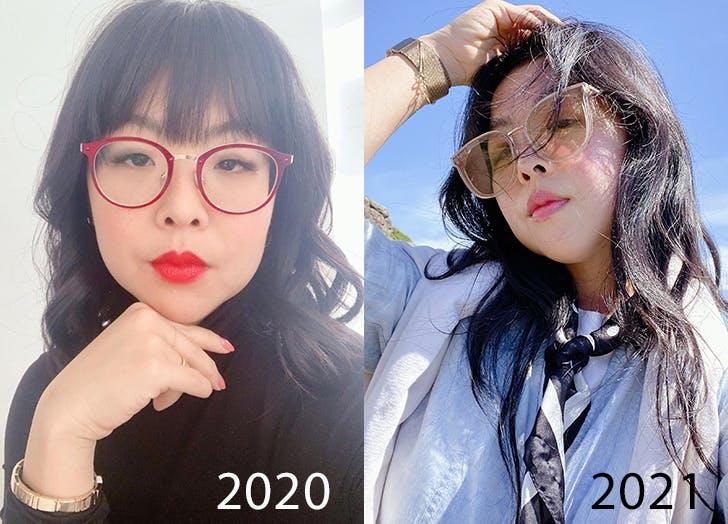 peekaboo highlights hair trend before