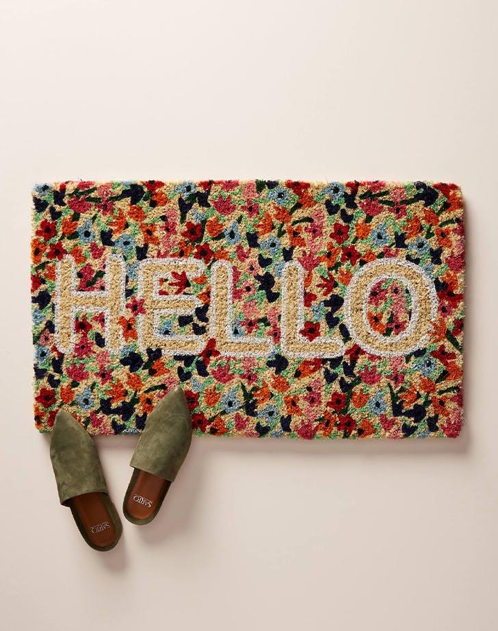 Outdoor doormats floral rug