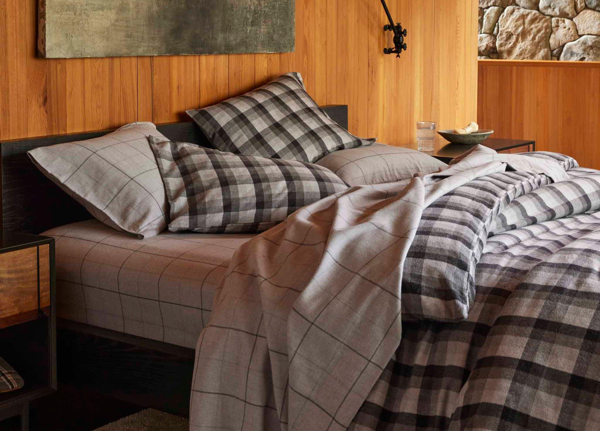 Brooklinen flannel sheets CAT