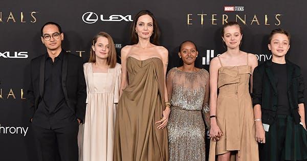Angelina Jolie's Daughter Rocks Her Mom's Vintage Oscars Dress from 2014