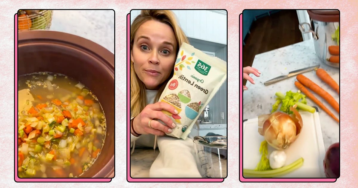 Warm Up with Reese Witherspoon's Slow Cooker Lentil Soup All Fall Long