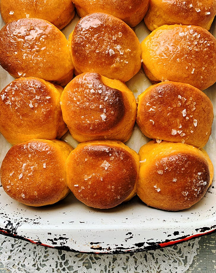 Sweet Potato Biscuit Rolls with Honey Butter Glaze